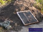 Gesiebter und zur Verarbeitung vorbereiteter Gartenkompost